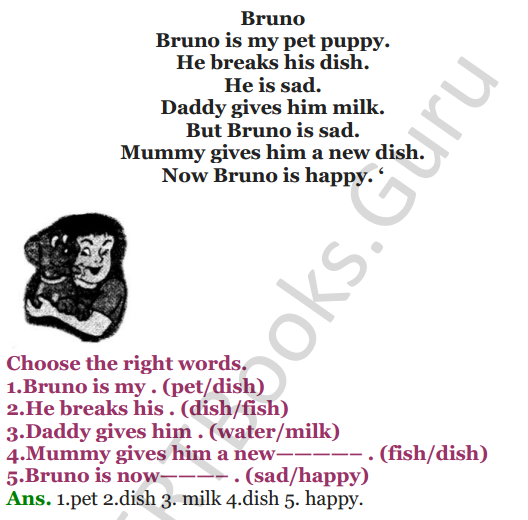 NCERT Solutions for Class 3 English Unit-7 Poem Puppy and I 4