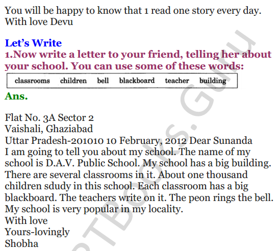 NCERT Solutions for Class 3 English Unit 8 Poem What's in the Mailbox 2