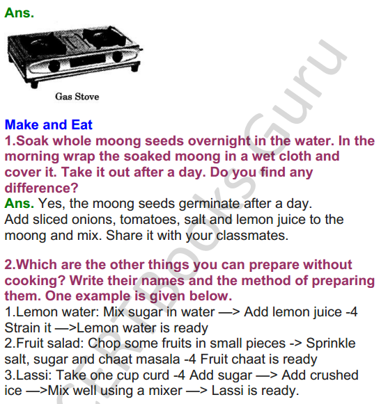 NCERT Solutions for class 3 EVS Chapter 10 What is Cooking 3
