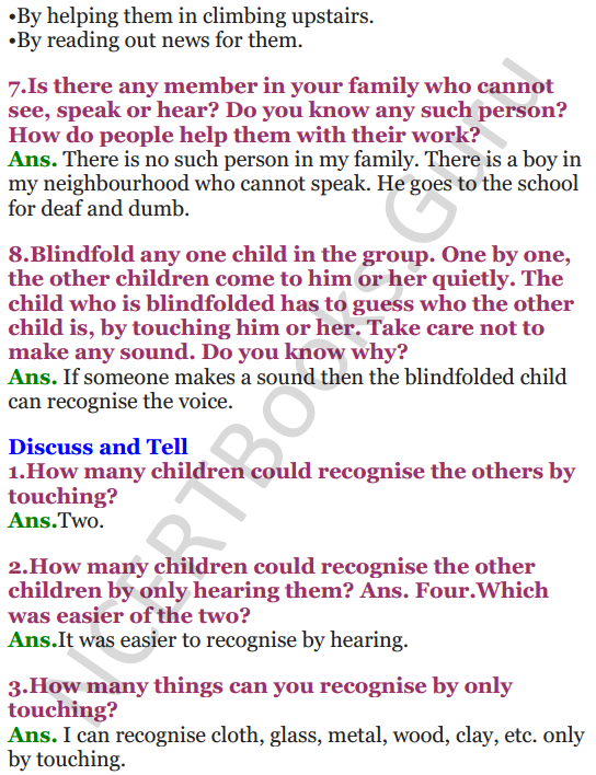 NCERT Solutions for Class 3 EVS Chapter 13 Sharing Our Feelings 2