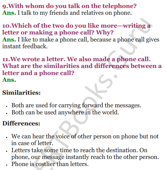 NCERT Solutions for Class 3 EVS Chapter 17 Here Comes a Letter 3