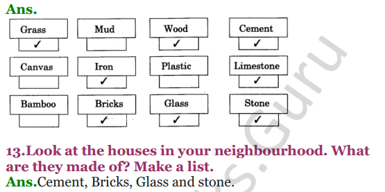 NCERT Solutions for class 3 EVS Chapter 18 A House Like This! 3