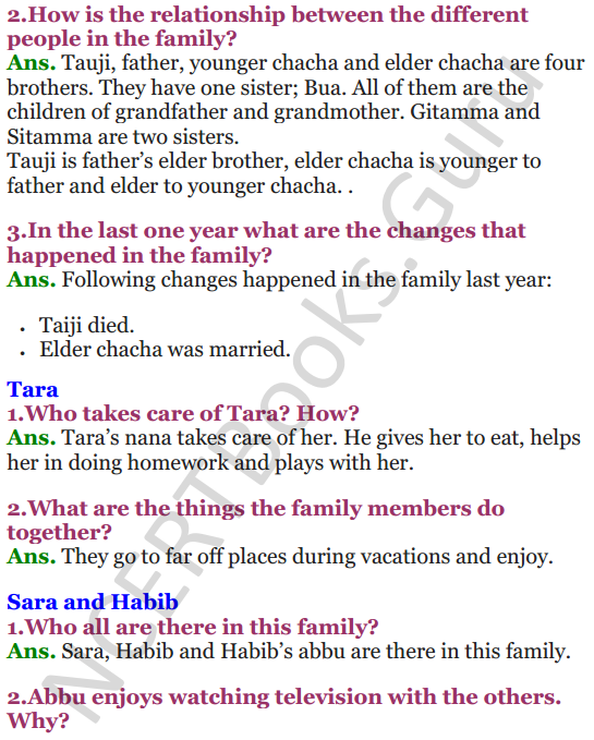NCERT Solutions for Class 3 EVS Chapter 21 Families Can Be Different 2