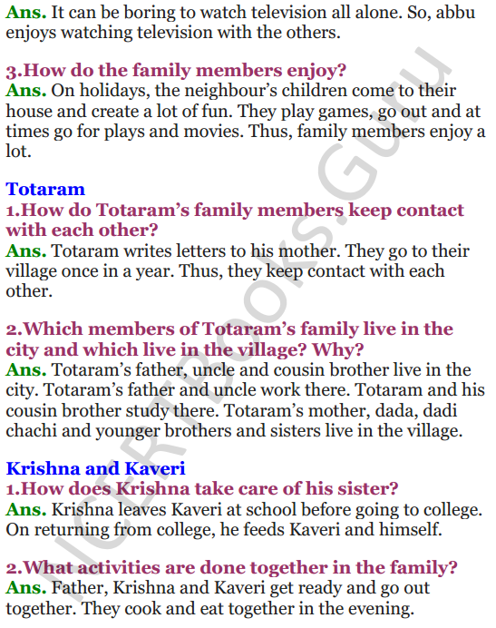 NCERT Solutions for Class 3 EVS Chapter 21 Families Can Be Different 3