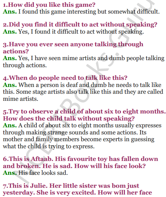 NCERT Solutions for Class 3 EVS Chapter 7 Saying Without Speaking 1