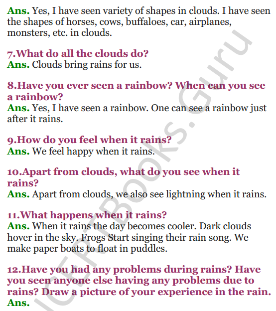 NCERT Solutions for Class 3 EVS Chapter 9 It's Raining 2