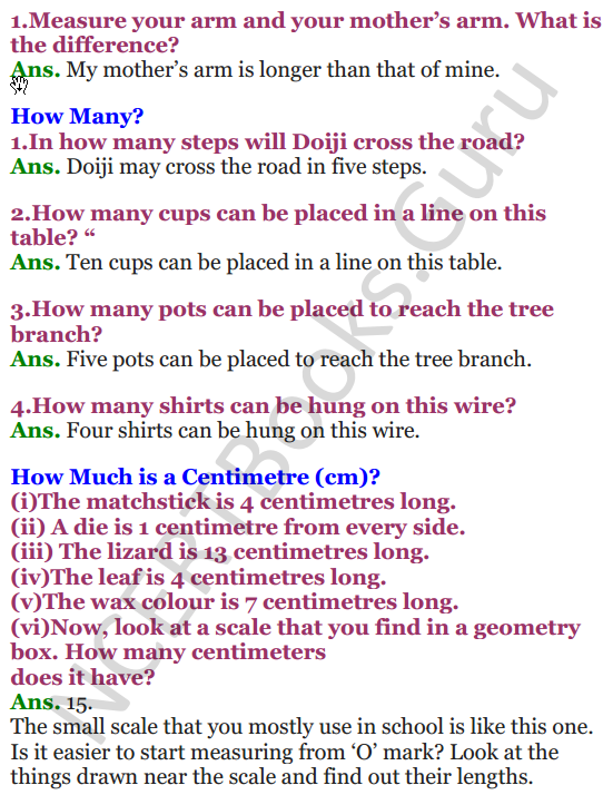 NCERT Solutions for Class 3 Mathematics Chapter-4 Long and Short 1