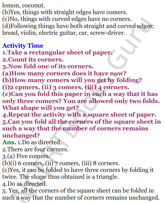 NCERT Solutions for class 3 Mathematics Chapter 5 Shapes and Designs 2