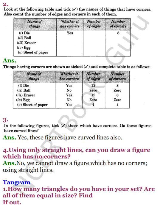 NCERT Solutions for class 3 Mathematics Chapter 5 Shapes and Designs 3