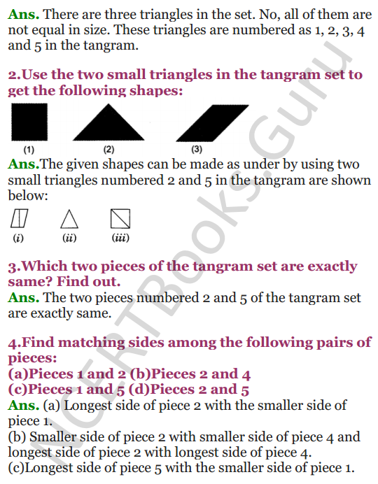 NCERT Solutions for class 3 Mathematics Chapter 5 Shapes and Designs 4