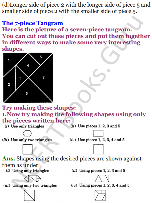 NCERT Solutions for class 3 Mathematics Chapter 5 Shapes and Designs 5