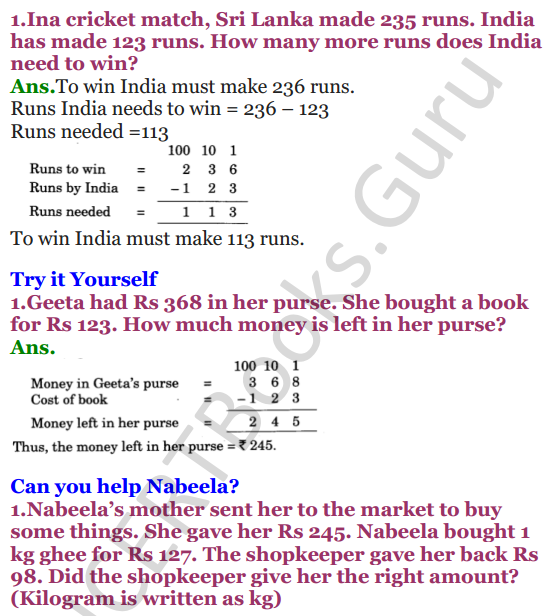 PDF] NCERT Solutions For Class 3 Mathematics Chapter-6 Fun With Give And  Take