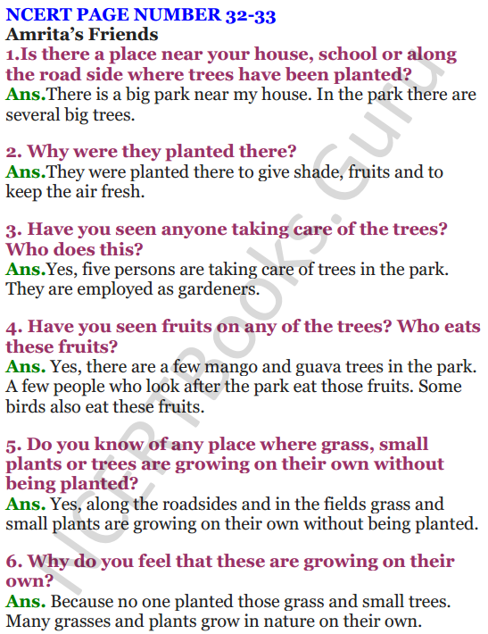 NCERT Solutions For Class 4 Chapter 4 The Story of Amrita 1