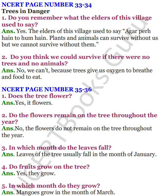 NCERT Solutions For Class 4 Chapter 4 The Story of Amrita 2