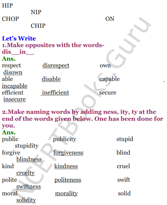 NCERT Solutions for Class 4 English Unit-10 Pinocchio 2