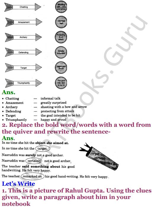 NCERT Solutions for Class 4 English Unit-3 Nasruddin's Aim 2