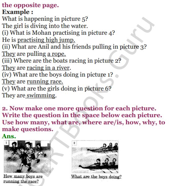 NCERT Solutions for Class 4 English Unit-3 Poem Run 3