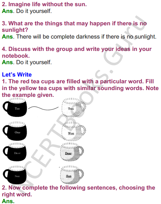 NCERT Solutions for Class 4 English Unit-5 Poem Pont be afraid of the dark 4