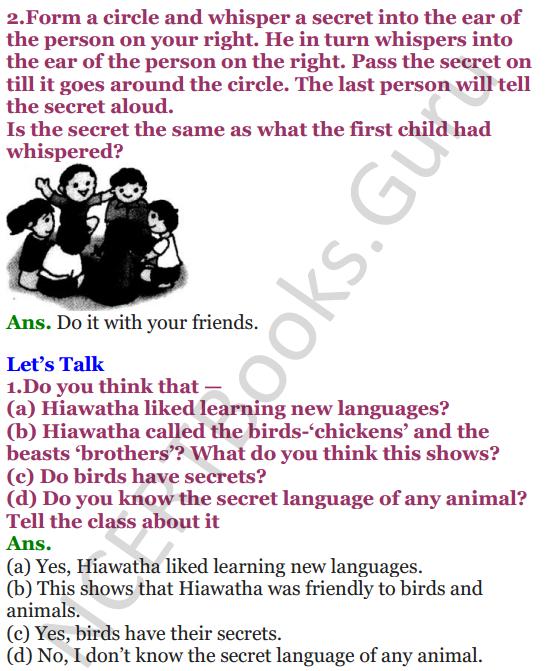 NCERT Solutions for Class 4 English Unit-7 Poem Hiawatha 2