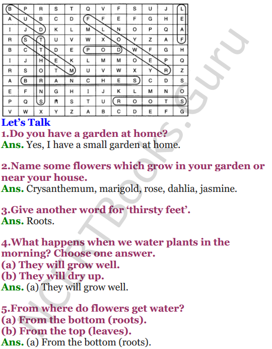 NCERT Solutions for Class 4 English Unit-8 Poem A watering rhyme 2