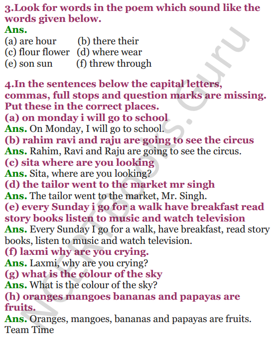 NCERT Solutions for Class 4 English Unit-8 Poem A watering rhyme 4