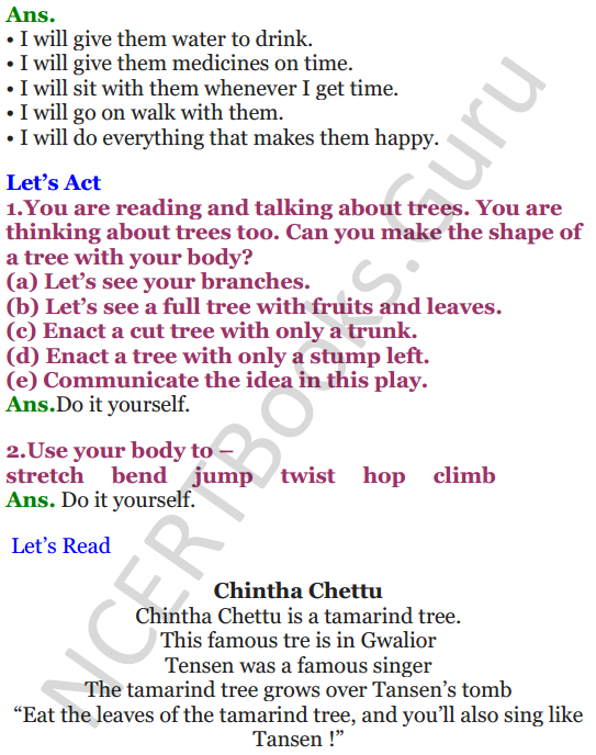 NCERT Solutions for Class 4 English Unit-8 The giving tree 4