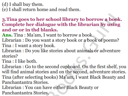 NCERT Solutions for Class 4 English Unit-9 Going to buy a book 3