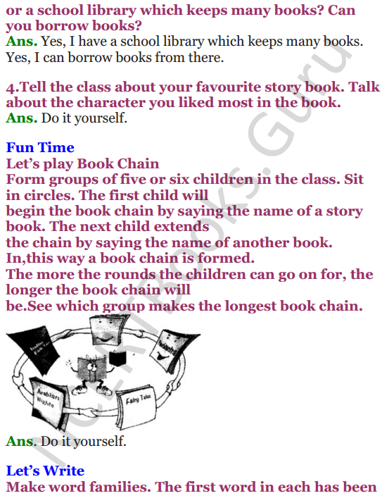 NCERT Solutions for Class 4 English Unit-9 Poem Books 2