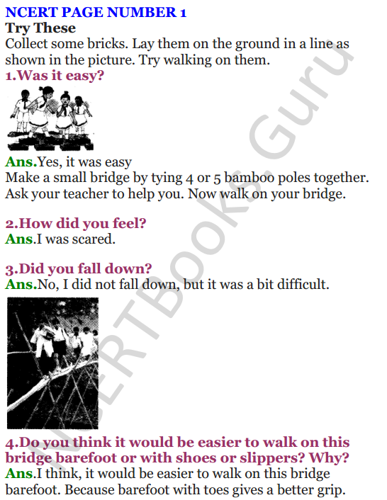 NCERT Solutions for Class 4 EVS Chapter 1 Going To School 1