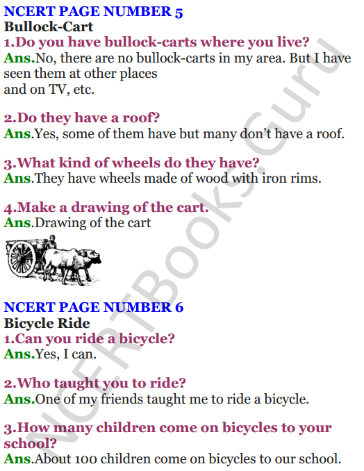 NCERT Solutions for Class 4 EVS Chapter 1 Going To School 6