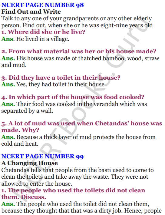 NCERT Solutions for Class 4 EVS Chapter 12 Changing Times 1