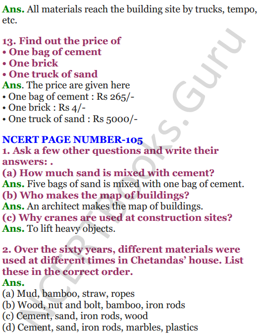 NCERT Solutions for Class 4 EVS Chapter 12 Changing Times 6