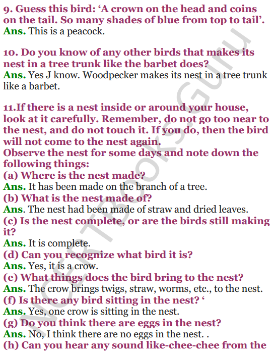 NCERT Solutions for Class 4 EVS Chapter 16 A Busy Month 2