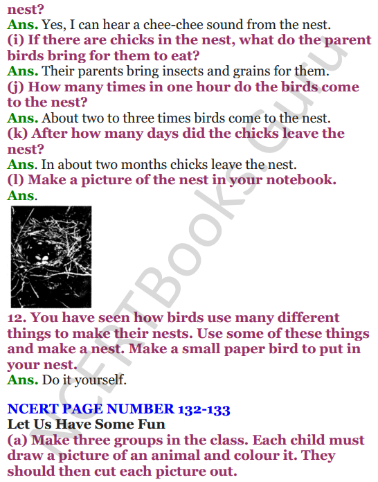 NCERT Solutions for Class 4 EVS Chapter 16 A Busy Month 3