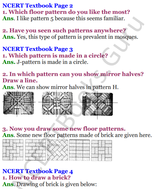 NCERT Solutions for Class 4 Mathematics Chapter-1 Building With Bricks 1