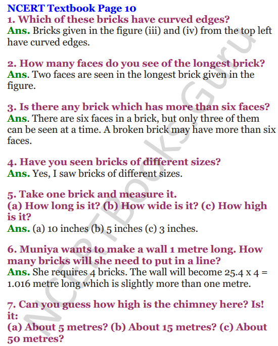 NCERT Solutions for Class 4 Mathematics Chapter-1 Building With Bricks 5