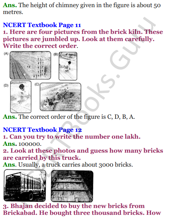 NCERT Solutions for Class 4 Mathematics Chapter-1 Building With Bricks 6