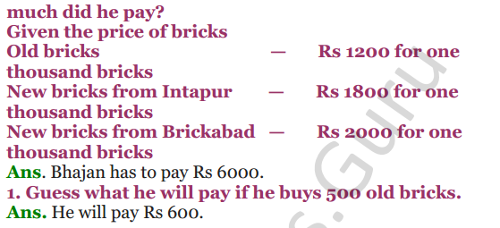 NCERT Solutions for Class 4 Mathematics Chapter-1 Building With Bricks 7