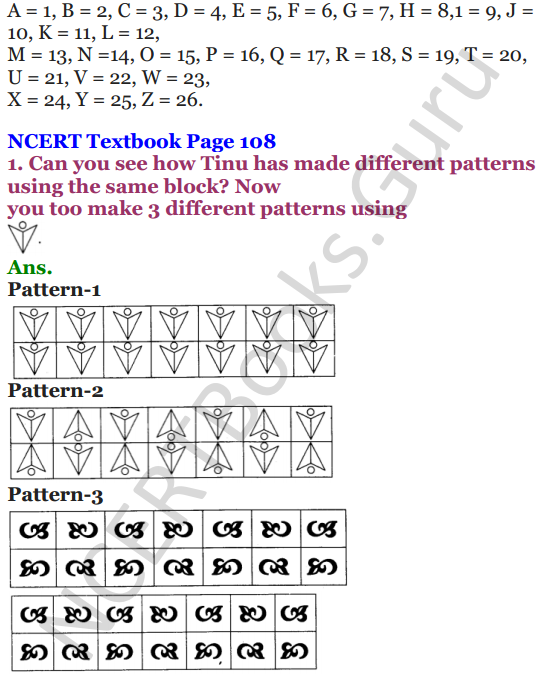 NCERT Solutions for Class 4 Mathematics Chapter-10 Play With Patterns 2