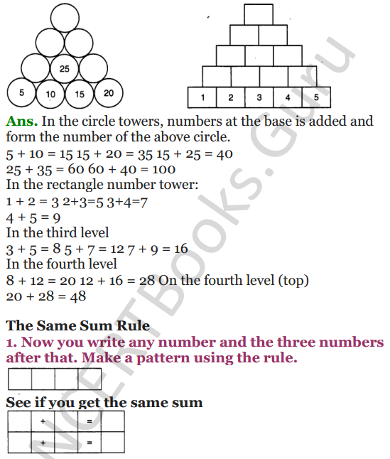 NCERT Solutions for Class 4 Mathematics Chapter-10 Play With Patterns 5