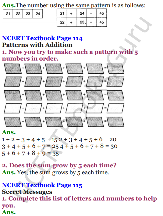 NCERT Solutions for Class 4 Mathematics Chapter-10 Play With Patterns 6