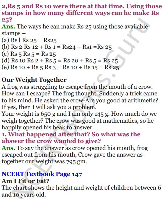 NCERT Solutions for Class 4 Mathematics Chapter-12 How Heavy How Light 11