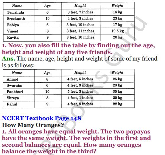 NCERT Solutions for Class 4 Mathematics Chapter-12 How Heavy How Light 12