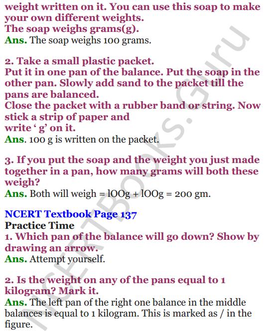 NCERT Solutions for Class 4 Mathematics Chapter-12 How Heavy How Light 4