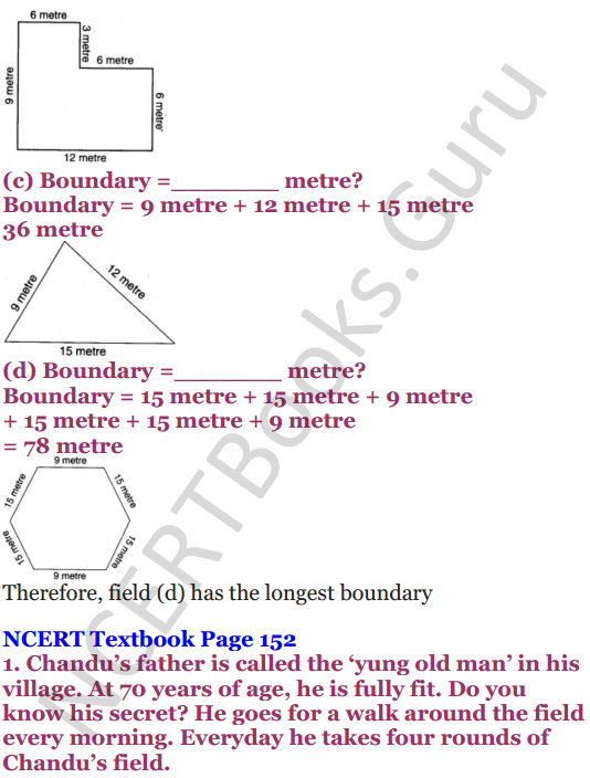 NCERT Solutions for Class 4 Mathematics Chapter-13 Fields And Fences 3