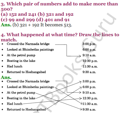 NCERT Solutions for Class 4 Mathematics Chapter-3 A Trip To Bhopal 10