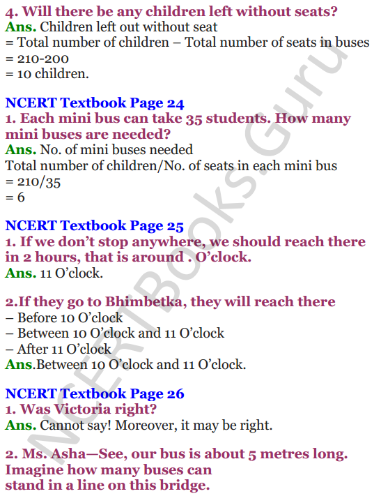NCERT Solutions for Class 4 Mathematics Chapter-3 A Trip To Bhopal 2