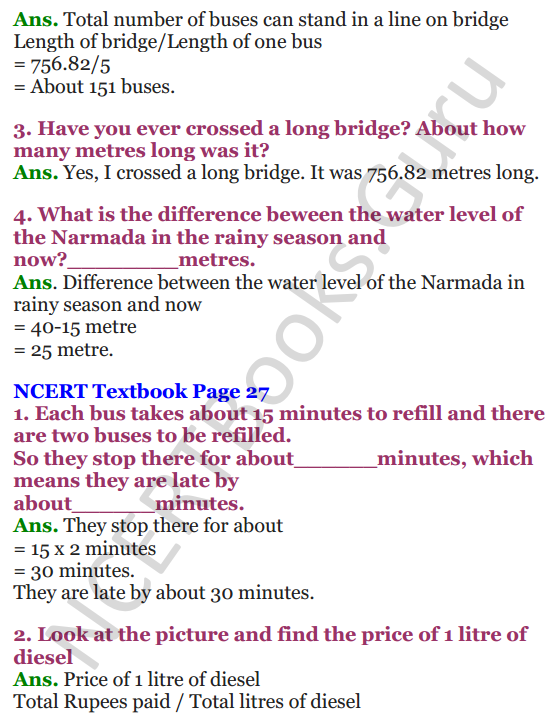 NCERT Solutions for Class 4 Mathematics Chapter-3 A Trip To Bhopal 3
