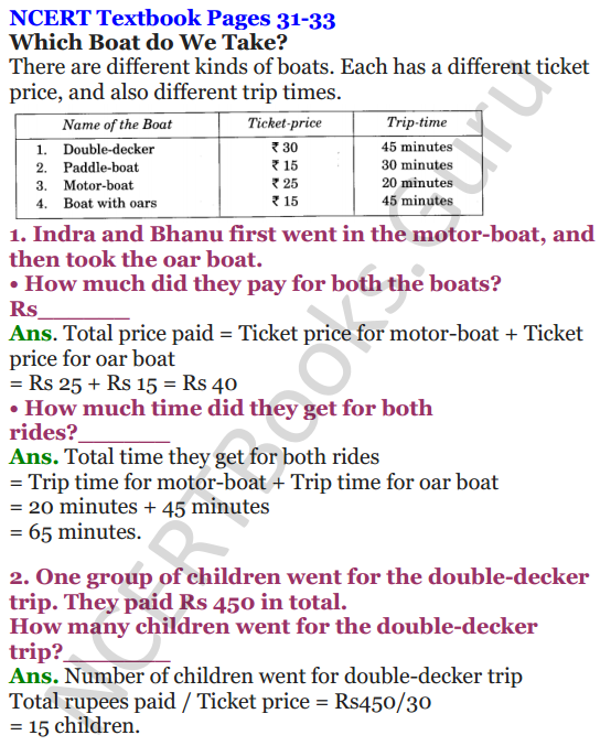 NCERT Solutions for Class 4 Mathematics Chapter-3 A Trip To Bhopal 7