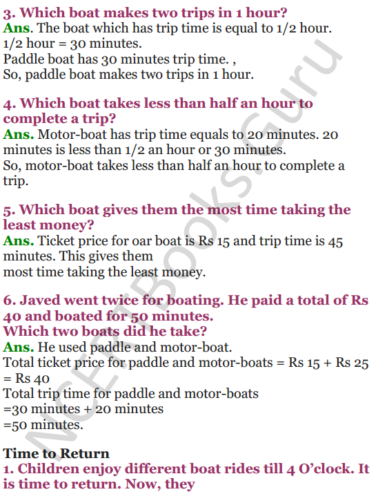 NCERT Solutions for Class 4 Mathematics Chapter-3 A Trip To Bhopal 8